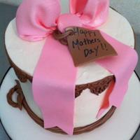 "Mothers Day Cake With A Touch Of Western   6"" Buttercream Cake"