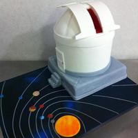 "Shsu Observatory Cake Sam Houston State University Observatory8"" roundsFondant covered board"