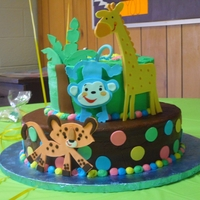 Fisher Price Jungle Just my version of theme with fondant animals