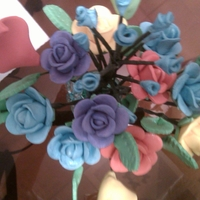 Sugar Flowers 03/18/2012 the blue sugar flowers for a man