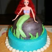 Little Mermaid Birthday Cake Made for my little girl's 6th Birthday party