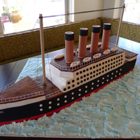 "Titanic Cake Nothing quite says ""Happy Birthday"" like the Titanic. What can I say? My son is obsessed with the infamous boat. Everything is..."