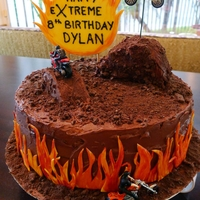 Motorcycle Stunt Birthday Cake