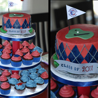 Northridge Golf Grad Cupcake Tower For a guy who lettered in golf!