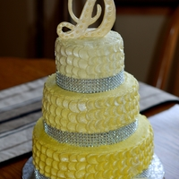 Danielle's Yellow Bling yellow and bling was requested for this college grad cake.