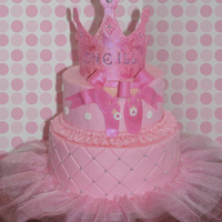 Oneill's Super Girly Cake Her mom wanted ballet, pink, girly...check, check, check.It was even pink inside!