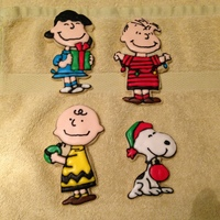 Peanuts Charlie Brown Christmas I have had these cookie cutters for a long time. But have never decorated them. I used NFSC recipe and royal icing. I have made 3 dozen so...