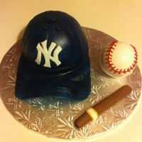Ny Yankees NY Yankee Cap with Ball and Cigar