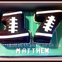 Football Themed Seventeen Cake