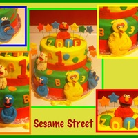 Sesame Street Characters made of Fondant.