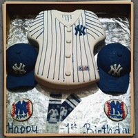 Twins Ny Yankees CAKE DONE FOR A SET OF TWINS.