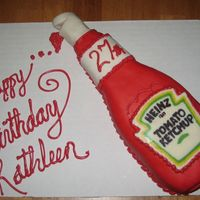 Ketchup Lover Cake My best friend has put ketchup on everything since I've known her and I thought she might like this. The label is a chocolate transfer...