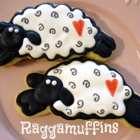 Sheep Cookies See all my pictures on facebook under Raggamuffins Cakes & Cookies