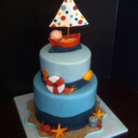 Nautical/sailing Baby Shower Cake