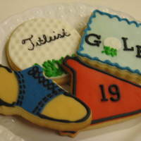 Golf Cookies Made for a client that has daughter on the HS golf team.