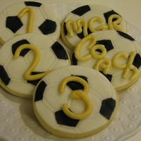 Soccer Ball Cookies These were for client's son. His team was in the soccer finals