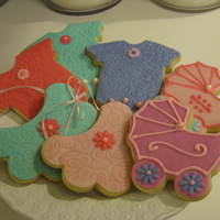 Baby Shower Cookies Baby shower cookies that I made for a cousins shower.