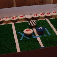 Super Bowl I did the starting line-up as cupcakes and added a referee.