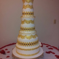 2014 Valentines Day Wedding Cake This is a display cake for our local Register of Deeds Valentines Day Wedding Extravaganza. They offer a complete wedding set up for free,...