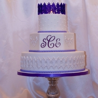 "Purple & White, Less Is More. My cake submission for CC Magazine's article ""Less is More""."