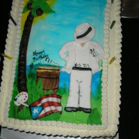Bombero Birthday Cake This cake was made for my awesome lesbian friend, She also dances Bomba de Puerto Rico in Chicago...