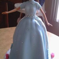 Barbie Communion Cake This cake I made to match the little girl's communion and birthday dress.
