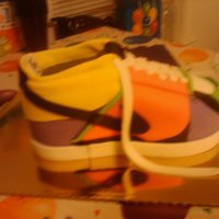 Sneaker Nike Shoe Birthday Cake This one was so much fun to make!!!! I didn't want to let this one go... it went to a special little lady!