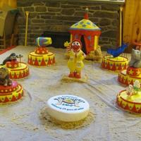 Ronald Mcdonald Camp 25Th Anniversary For Icing Smiles This cake was done with two other members on Cake Central, momade and another friend. This cake was a donation cake for Icing Smiles. It...