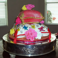 Asian Pillows My daughter's 9th birthday. She loves all things Asian. I used the small and medium Wilton pillow pans.