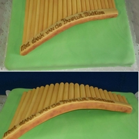 Sugar Panflute a Special thank you for someone leaving the Panflute Society, the panflute is completely made of sugar