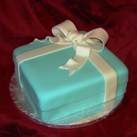 Tiffany Box Special request from a family member. Chocolate cake with coconut filling, IMBC and fondant. TFL!