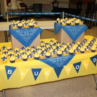 Blue And Gold Banquet For Boy Scouts   Made 144 cupcakes for this event!