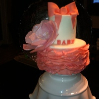 Paper Wafer Flower Fondant Bow And Frills Paper wafer flower, fondant bow and frills.