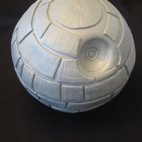 Star Wars Death Star  This is the top tier for my daughter's 7th birthday cake. She wanted a Death Star. It was easier than I thought but photos always show...