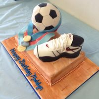 For A Basketball/soccer Girl  I only make about three cakes per year. This was for my daughter who wanted a soccer ball and something to represent basketball and her...