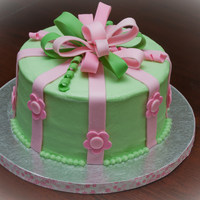 Pink And Green Baby Shower Inspired by vlin28i and the Girly Backyardigans cake. Cake is lemon with raspberry buttercream filling. The accents are MMF.