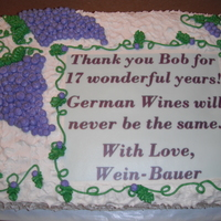 Grapes Retirment Cake