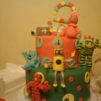 Yogabba Gabba All Edible Cake with edible 3D figures of the cast