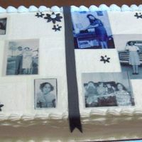 70Th Birthday For My Grandmother Its supposed to be a photoalbum. Its buttercream butter pecan with caramel buttercream filling.