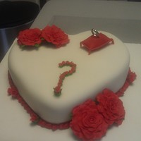 Proposal Cake!!! some one wanted to propose a question. so we helped them do it in the best way possible.