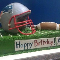 A Patriots Themed Birthday Cake For A Child Rkt And White Chocolate For The Helmet Plus Fondant The Whole Thing Stayed Up Perfectly Use A patriots themed birthday cake for a child. RKT and white chocolate for the helmet plus fondant. the whole thing stayed up perfectly. used...