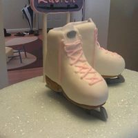 Girls Ice Skating Birthday Cake Skates Stand Upright On The Blades Girls Ice Skating Birthday cake. Skates stand upright on the blades.