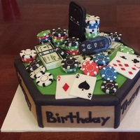 A Personalized Poker Cake For Some One Who Also Wanted It To Represent There Other Favorite Loves Like There Cologne And Car Keys a personalized poker cake for some one who also wanted it to represent there other favorite loves like there cologne and car keys