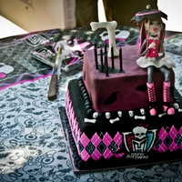 Monster High Cake a monster high themed birthday cake