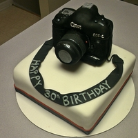 Canon Camera Cake This is a cake to represent a canon 1d Mark II camera that a photographer used all the time.