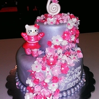 Hello Kitty a hello kitty themed caked.