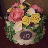 Spring Flowers Inspiried by Pink Cake Box cake. Gumpaste peony, rose, calla lily and some fun flowers. Happy with how it turned out! TFL