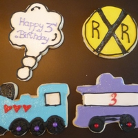 Macs Train Cookies Train themed party for little girls 3rd birthday!