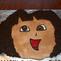 Dora The Explorer This is a cupcake cake made with 26 cupcakes.
