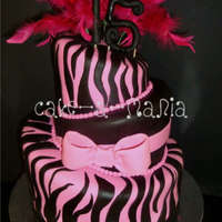 Zebra And Hot Pink For the most modern Quincenera